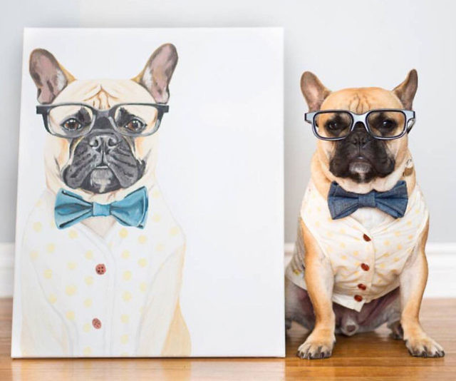 Get the superhero art for your canine friend